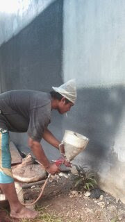 Melayani jasa pengecatan Cat Tekstur Jakarta Bogor Tangerang Bekasi Depok dan sekitarnya Teknik Membuat Cat Tekstur Kamprot untuk Dinding
