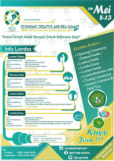 Economic Creative and Ideas Summit (ECO SUMMIT) 2017