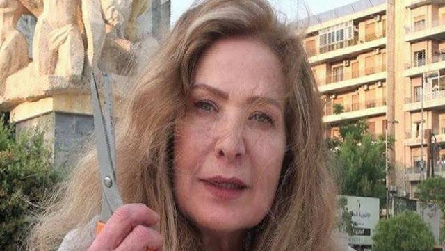 الممثلة رغدة تقص شعرها في حلب وترميه في ساحة عامة امام الناس والسبب غريب جدا