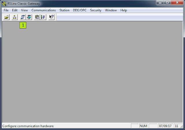 Crear y configurar driver de comunicación RSLinx Classic