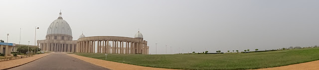 Panorama photo of the Basilica in Ivory Coast