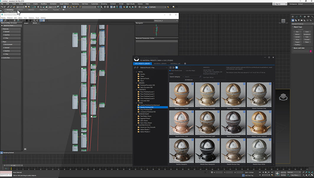 SIGERSHADERS XS Material Presets Studio v3.0.0 for 3ds Max 2016 – 2022 3.0.0 x64