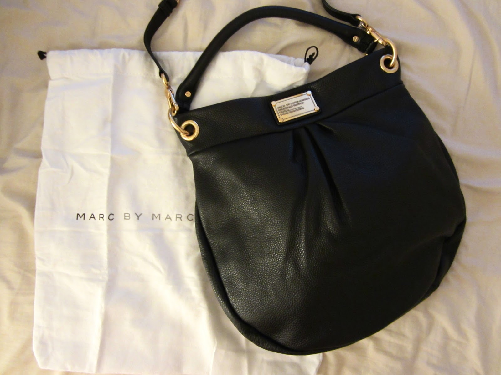 Marc by Marc Jacobs Classic Q Hillier Hobo - Black with Gold Hardware 3f2731321bb9
