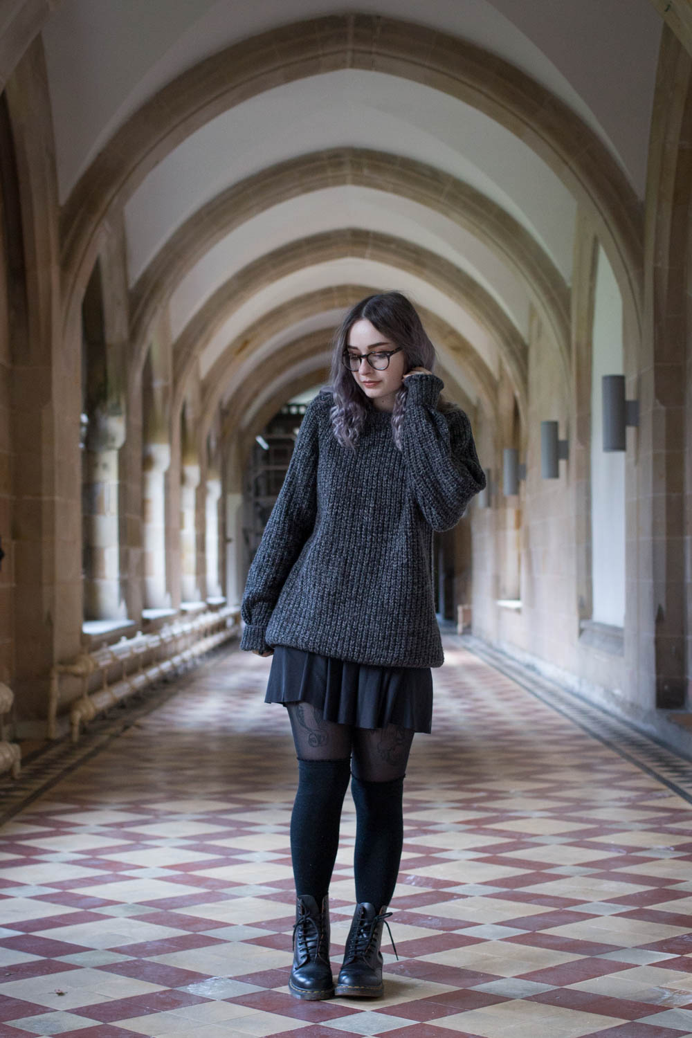 cosy jumper cute winter outfit ootd