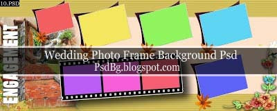 Wedding Photo Frame Background Psd Files 12x30