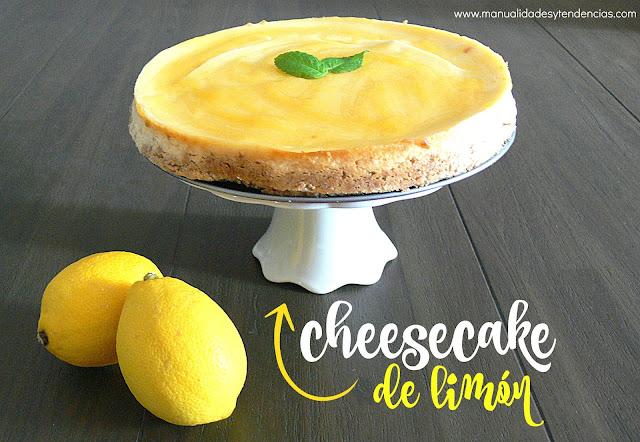 Cómo preparar tarta de queso de limón o cheesecake
