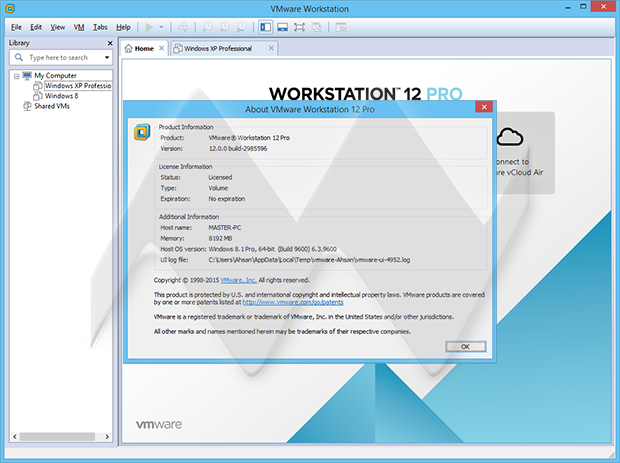 vmware workstation pro 15 key