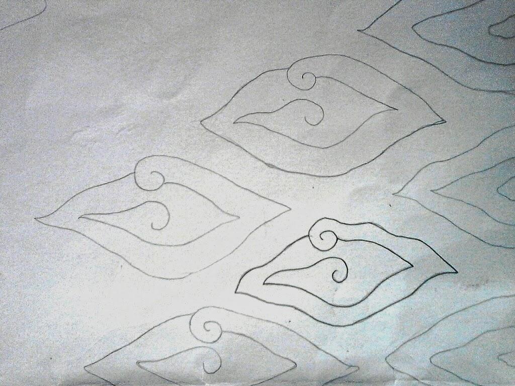 Little Story Tutorial Gambar Batik Mega Mendung