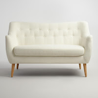 Off-White Tamara Loveseat