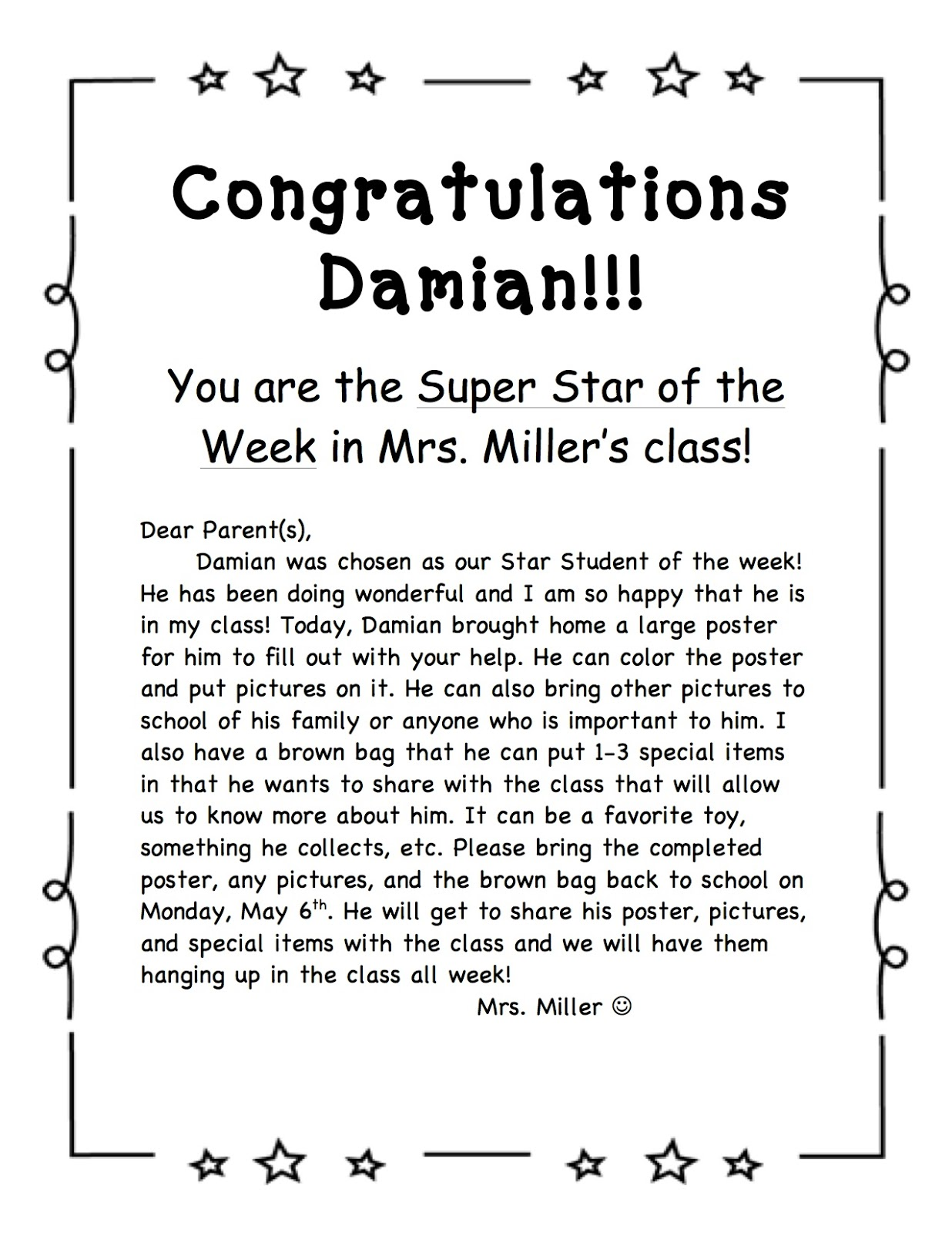 A Spoonful Of Learning Star Student Of The Week Amp Freebie