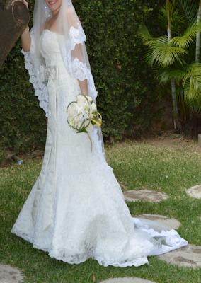 vestido de novia semi largo