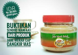 jual bubuk jahe merah murni cap cangkir mas kemasan toples 200 gram di sumatera