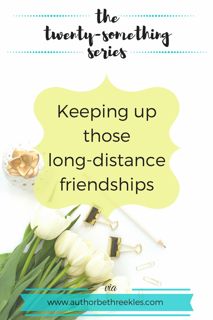 It can be hard to stay friends with someone when you don't see them a lot, so I share some advice in this post