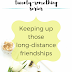 The Twenty-Something Series: Keeping up those long-distance friendships