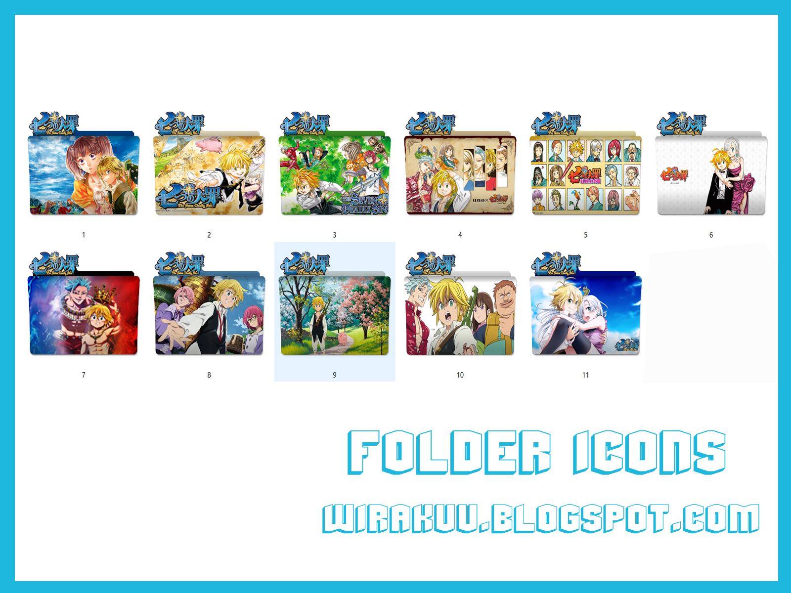 11 Folder Icons Anime Nanatsu (Windows 7, 8, 10)
