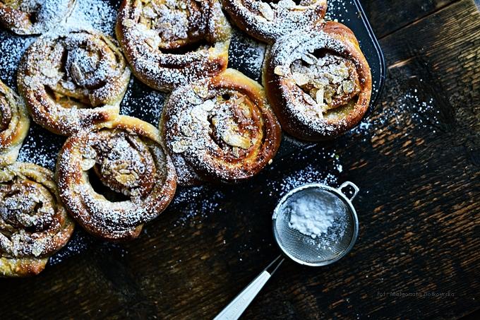 W wypiekaniu na sniadanie dziś muffina z jabłkiem i cynamonem