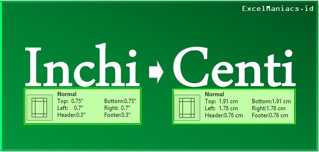 Merubah Satuan Ukur pada Excel