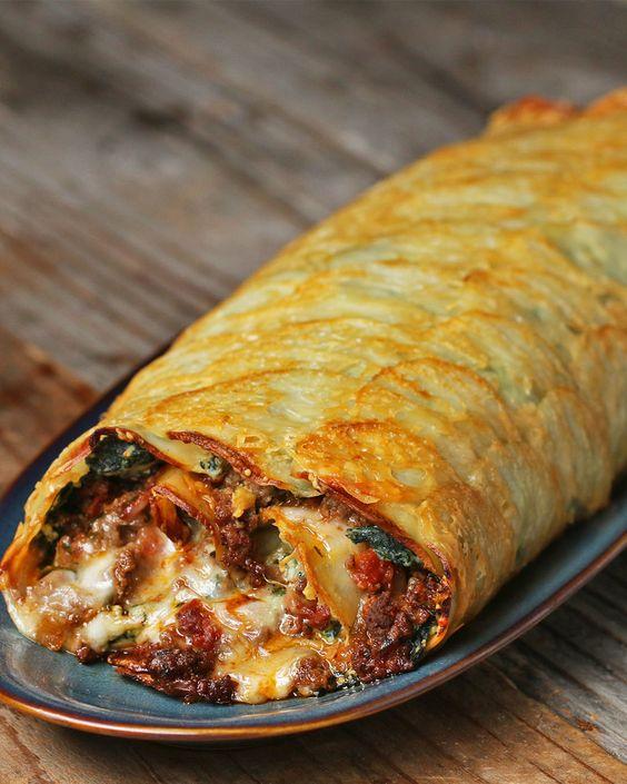 Scalloped Potato Roll #scalloped #potato #roll #tasty #tastyrecipes #delicious #deliciousrecipes