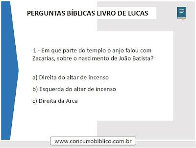 Perguntas Bíblicas Lucas