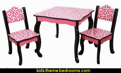 Teamson Kids - Leopard Table and Chair Sets