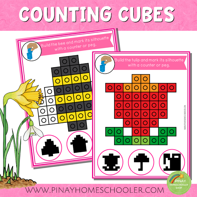 SPRING THEMED COUNTING CUBES