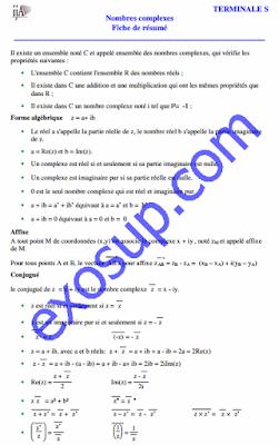 résumé d'algèbre 1 sur les nombres complexes