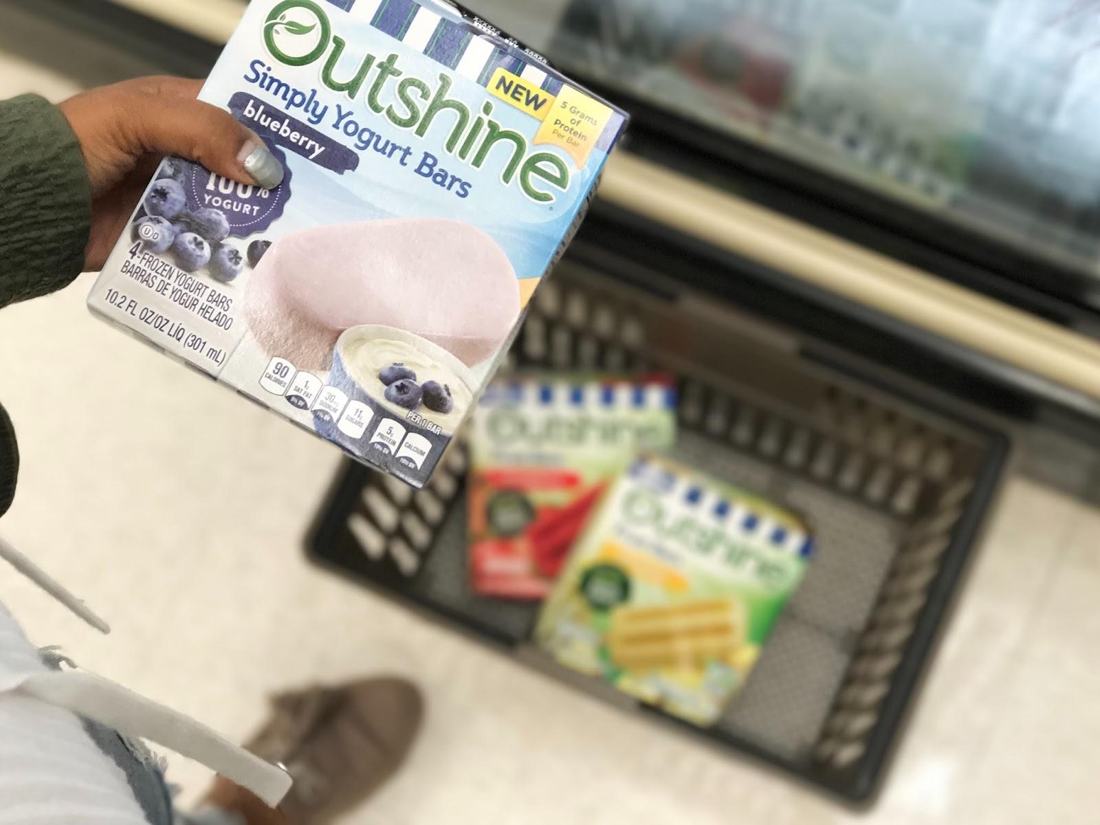 Outshine, snacks, ice cream yogurt, healthy snack ideas, healthy frozen snacks Outshine at Giant, blueberry
