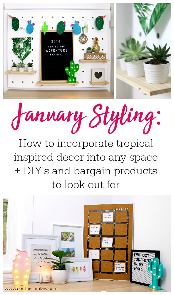 January Styling How To Create A Tropical Decor Theme In Any Room On Budget