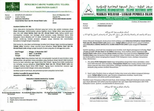 Maklumat Laskar FPI , Penolakan Terhadap Ketua Umum FPI KH Ahmad Shabri Lubis Bisa Berakibat Pertumpahan Darah