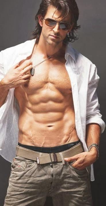 Shirtless Bollywood Men: Hrithik Roshan