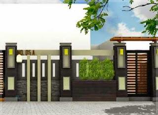 kumpulan gambar pagar cor untuk rumah minimalis