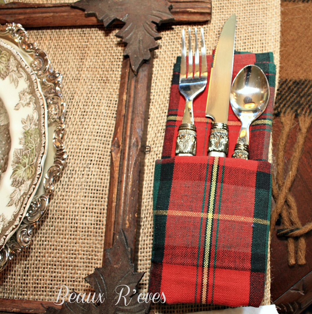 Rustic Flatware Patterns Beaux R 39eves Rustic Thanksgiving Table