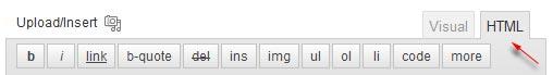 html mode