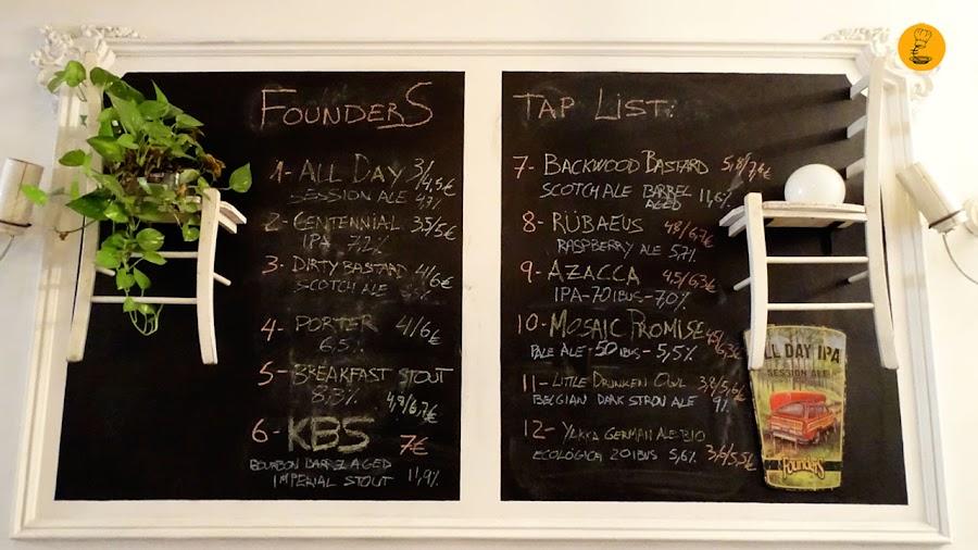 Listado de cervezas Founders Brewing Co. en Roll Madrid
