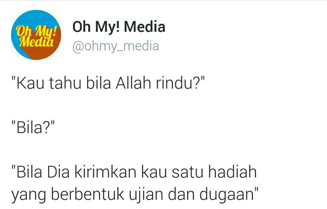 """kau tahu bila Allah rindu?"""