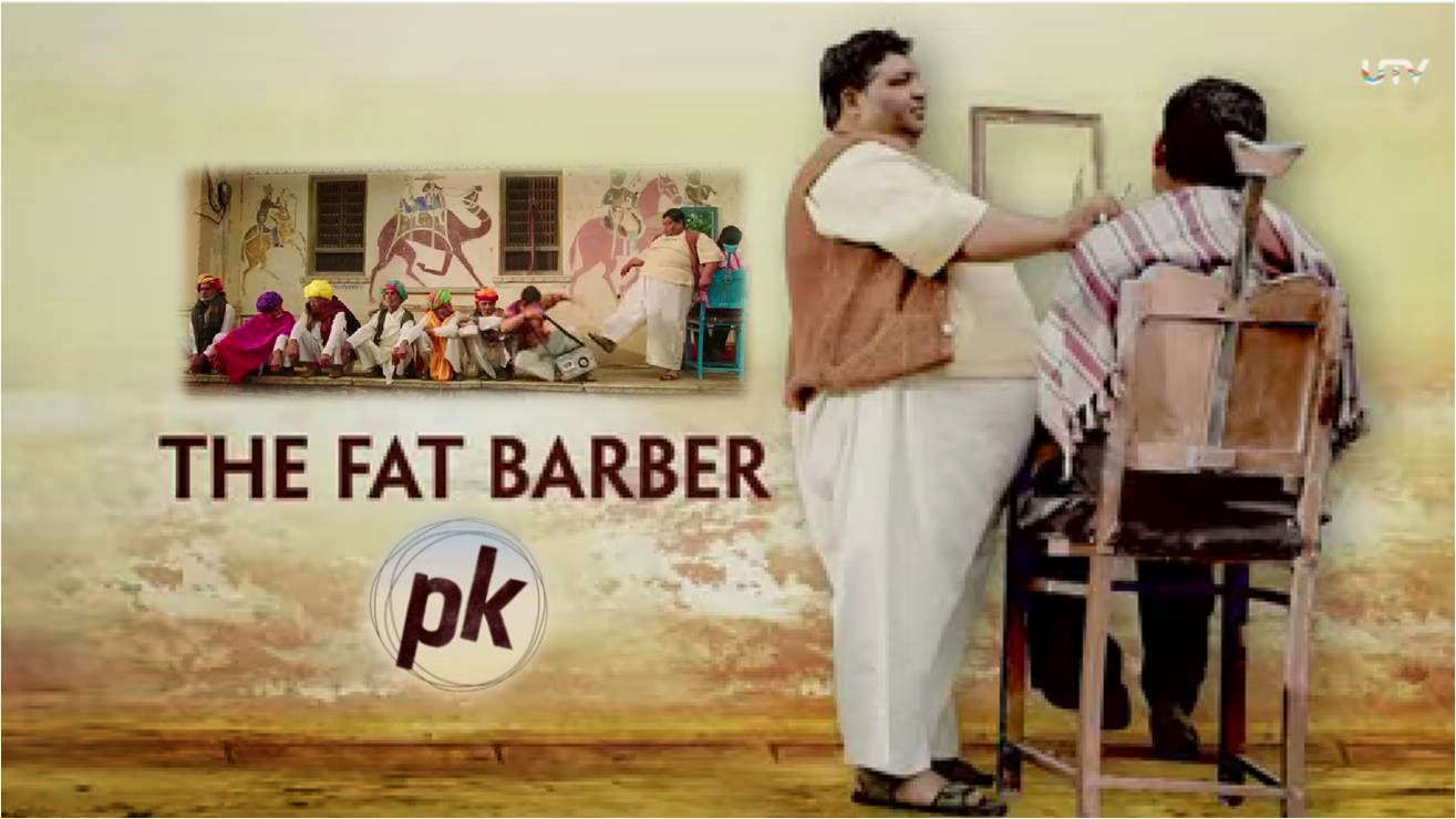 PK (Peekay) Making: Funny Barber Scene with Aamir Khan