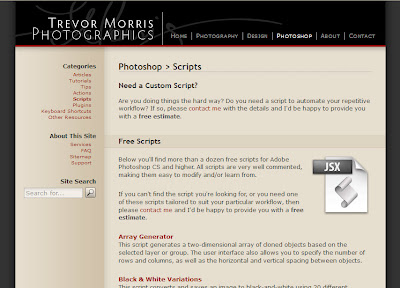Trevor Morris free Photoshop scripts