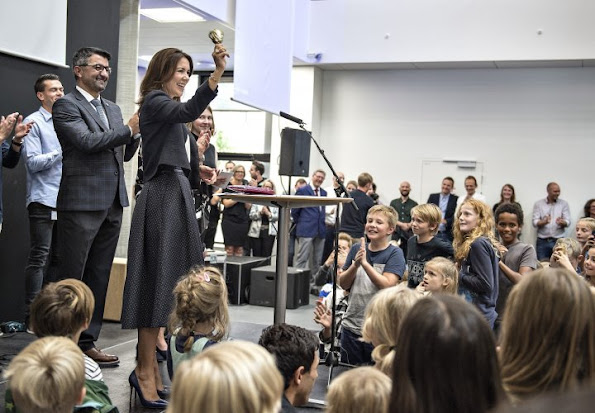 Crown Princess Mary attend the opening of the new school (Frederiksbjerg School) in Aarhus.