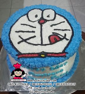 Kue Tart Buttercream Doraemon