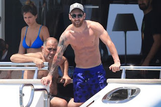 Lionel Messi holidays in Spain