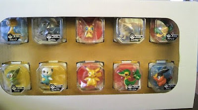 Oshawott figure Takara Tomy Monster Collection BW figures set package by 2011 Seven Eleven present