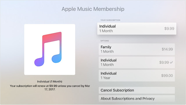 Come annullare Apple Music sull'Apple TV 2