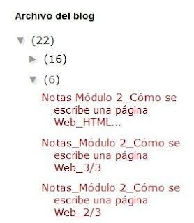 Widget Archivo del blog estilo jerarquía en Blogger sin fecha