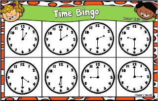 Time Bingo Cards