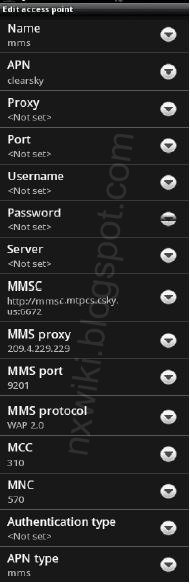 Cellular one MMS APN Settings for Android Samsung Galaxy