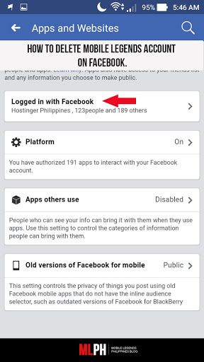 How to delete mobile legends account on facebook mobile legends blog once prompted press the delete button to finalize your deletion of the account on your facebook ccuart Image collections