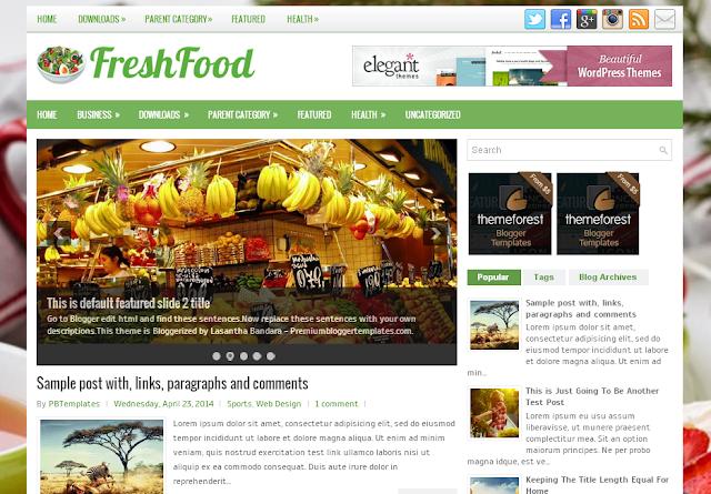 FreshFood blogger template