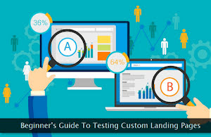 A/B testing of landing pages