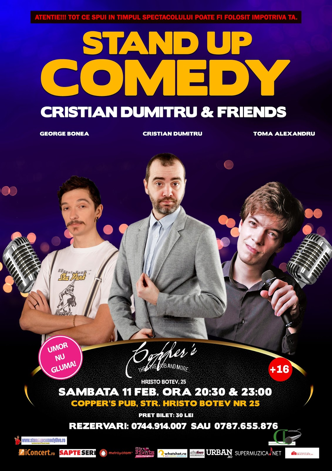 Stand-Up Comedy Sambata 11 Februarie Bucuresti