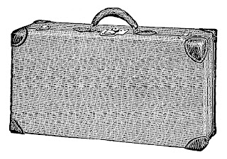 suitcase travel illustration clipart digital download